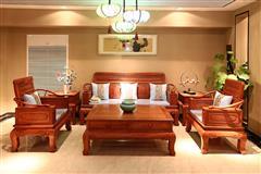 顺泰轩·吉象门第 东非香花梨(小巴花)东非酸枝 万象沙发(113)6件套 新古典家具 客厅系列