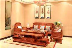 顺泰轩·吉象门第 东非香花梨(小巴花)东非香花梨 吉祥沙发(113)7件套 新古典家具 实木沙发
