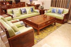 海强红木 君临沙发  新中式沙发  红木沙发  非洲花梨沙发  缅甸花梨沙发