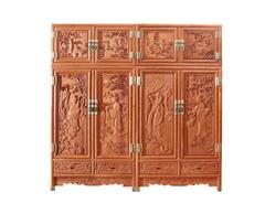双洋红木 缅甸花梨家具 新古典家具 中式家具 红木家具 卧房系列 四大美女顶箱柜