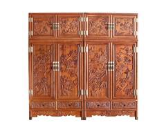 双洋红木 缅甸花梨家具 新古典家具 中式家具 红木家具 卧房系列 山水顶箱柜