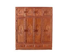 双洋千赢国际入口 缅甸花梨家具 新古典家具 中式家具 千赢国际入口家具 卧房系列 荷塘月色衣柜