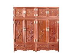 双洋红木 缅甸花梨家具 新古典家具 中式家具 红木家具 卧房系列 百鸟鸣春顶箱柜