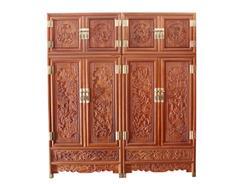 双洋红木 缅甸花梨家具 新古典家具 中式家具 红木家具 卧房系列 2.1M百子顶箱柜