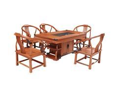 雙洋紅木 緬甸花梨家具 新古典家具 中式家具 紅木家具 書房系列 休閑系列 辦公室系列 書情畫意茶座6件套