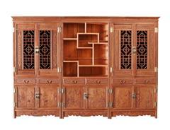 双洋红木 缅甸花梨家具 新古典家具 中式家具 红木家具 书房系列 六合同春书柜