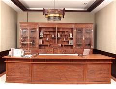 雙洋紅木 緬甸花梨家具 新古典家具 中式家具 紅木家具 書房系列 六合同春書房