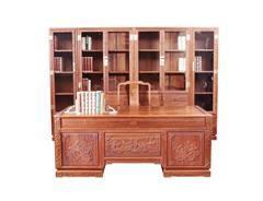 双洋红木 缅甸花梨家具 新古典家具 中式家具 红木家具 书房系列 荷塘月色书房