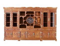 双洋红木 缅甸花梨家具 新古典家具 中式家具 红木家具 书房系列 办公室系列 龙腾千里大班台