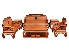 双洋红木 缅甸花梨家具 新古典家具 中式家具 红木家具 客厅系列 中式客厅 书情画意沙发6件套