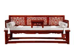 戴为红木 红木罗汉床 缅甸花梨罗汉床 卧室家具 TW玫瑰罗汉床2件套-大果紫檀
