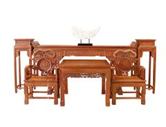 双洋红木 缅甸花梨家具 新古典家具 古典家具 中式家具 红木家具 客厅系列 灵芝中堂