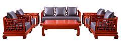 戴为千赢国际入口 缅甸花梨沙发 千赢国际入口沙发 中式沙发 TW霸王曲尺梳化8件套-大果紫檀