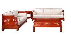 戴为红木 缅甸花梨沙发 红木沙发 中式沙发 TW博古花鸟梳化4件套-大果紫檀