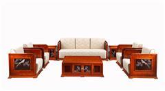 戴為紅木 緬甸花梨沙發 紅木沙發 中式沙發 TW檀韻梳化8件套-大果紫檀