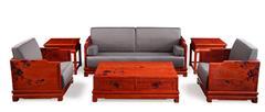 戴为红木 缅甸花梨沙发 红木沙发 中式沙发 TW玉兰梳化6件套-大果紫檀
