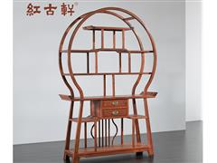 红古轩 新中式实木博古架 非洲花梨木红木 小多宝阁展示柜 刺猬紫檀置物架