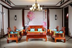 新明红木 墨语 红木家具缅甸花梨(学名:大果紫檀)沙发新古典家具客厅系列中式沙发