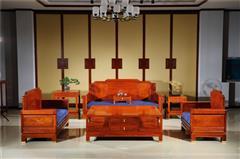 新明红木 墨语 红木家具缅甸花梨(学名:大果紫檀)沙发新古典家具客厅系列中式沙发七件套