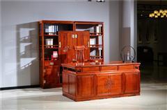 新明红木 墨语 红木家具缅甸花梨(学名:大果紫檀)书房新古典家具中式书房