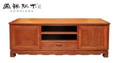 国祥红木 大果紫檀 缅甸花梨 中式家具 红木家具 古典家具 中式客厅 客厅系列 山水电视柜