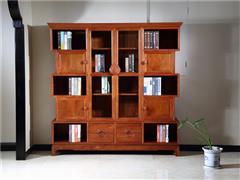 興成紅木 大果紫檀 緬甸花梨 書房系列 辦公室系列 中式家具 紅木家具 中式書房  和美書柜