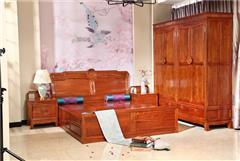 兴成红木 大年夜果紫檀 缅甸花梨 卧房系列 中式家具 新古典家具 红木家具 中式卧房 和美卧房