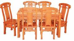 興成紅木 大果紫檀 緬甸花梨 中式家具 紅木家具 古典家具 中式餐廳 餐廳系列 福象餐臺7件套