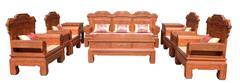 兴成红木 大果紫檀 缅甸花梨 中式家具 红木家具 古典家具 中式客厅 客厅系列 五福临门10件套