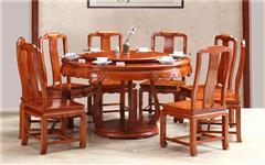 興成紅木 大果紫檀 緬甸花梨 中式家具 紅木家具 新古典家具 中式餐廳 餐廳系列 至美餐臺9件套