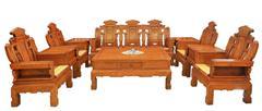 兴成红木 大果紫檀 缅甸花梨 中式家具 红木家具 中式客厅 古典家具 客厅系列 吉祥如意沙发10件套