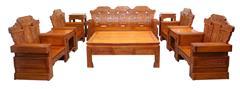 兴成红木 大果紫檀 缅甸花梨 中式沙发 中式家具 红木家具 客厅系列 中式客厅 古典家具 大中华沙发10件套