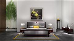 老周家居 上海老周紅木 印尼黑酸枝大床(學名闊葉黃檀) 1.5米禪悅床3件套 現代中式紅木大床 新中式家具 紅木家具臥房大床 臥室套房系列