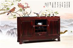 兴成红木 阔叶黄檀 中式家具 红木家具 新古典家具 中式餐厅 餐厅系列 曲美餐边柜