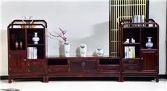 兴成红木 阔叶黄檀 中式家具 红木家具 新古典家具 中式客厅 客厅系列 曲美电视柜
