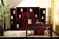 兴成红木 阔叶黄檀 中式家具 红木家具 新古典家具 中式书房 书房系列 曲美书房