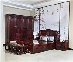 兴成红木 阔叶黄檀 中式家具 红木家具 新古典家具 中式卧房 红木卧房 卧房系列 曲美卧房