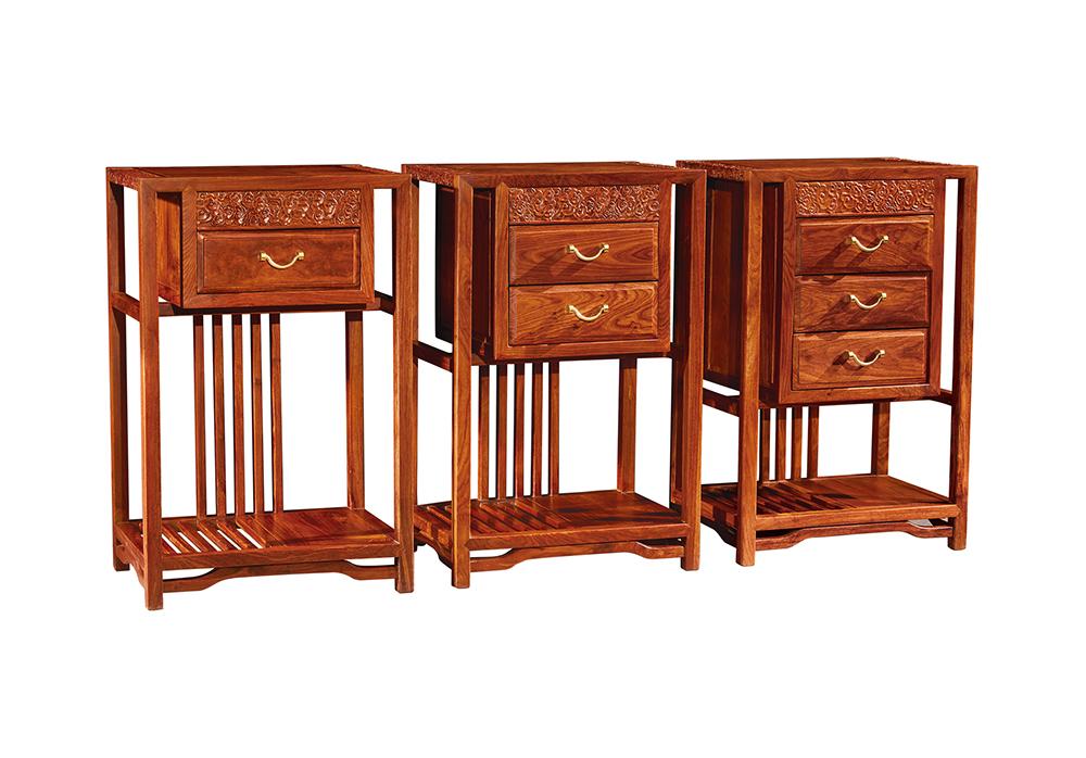 墨+红木 刺猬紫檀斗柜  尚书组合斗柜  新中式三斗柜   卧房系列
