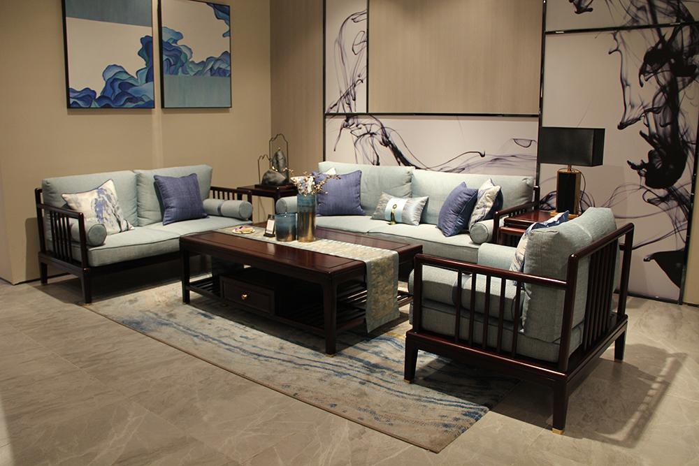 墨+红木 刺猬紫檀沙发   新中式沙发    红木沙发  尚贤3号沙发 客厅系列