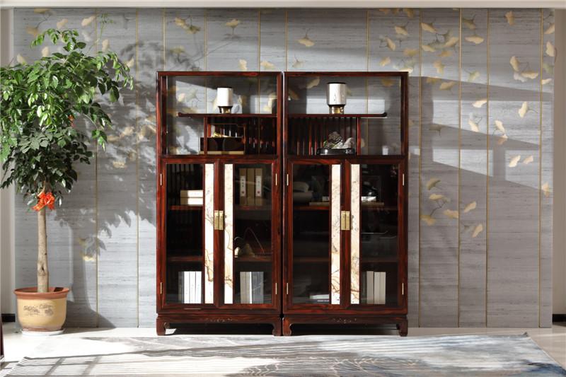 恒达木业 红木家具印尼黑酸枝(学名:阔叶黄檀)品韵系列功能柜中式家具