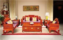 越府红木 大果紫檀 缅甸花梨 新古典家具 中式家具 红木家具 红木沙发 中式客厅 客厅系列 天龙八部1号沙发6件套