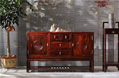 恒达木业 红木家具印尼黑酸枝(学名:阔叶黄檀)诗韵系列餐边柜中式家具餐厅系列