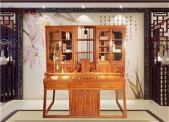 传天匠红木 缅甸花梨新中式 天匠系列 书房办公 全屋整装定制