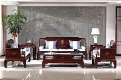恒达木业 红木家具印尼黑酸枝(学名阔叶黄檀)品韵系列沙发客厅系列中式家具七件套