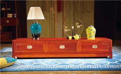 越府红木 大果紫檀 缅甸花梨 新古典家具 中式家具 红木家具 中式客厅 客厅系列 天龙八部电视柜
