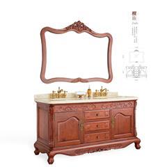 欧晨卫浴 红木家具中式红木浴室柜小巴花(学名:鞘籽古夷苏木)刺猬紫檀浴室柜OC-618