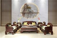 龍博士紅木 印尼黑酸枝(闊葉黃檀)沙發 國標紅木沙發 新古典沙發  客廳系列 鳴遠沙發11件套