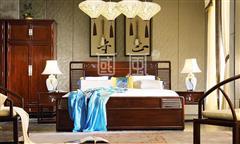 地天泰·国风 纳风1号大床 新中式家具 黑酸枝 卧室套房系列