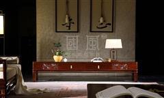 地天泰·国风 纳风电视柜地柜 新中式家具 黑酸枝 客厅系列