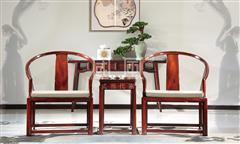 地天泰·国风 纳风休闲椅 新中式家具 黑酸枝 休闲系列 客厅系列